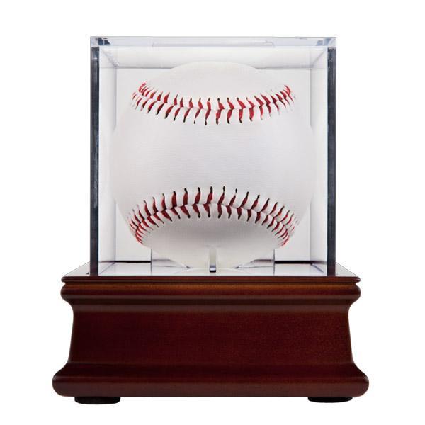 Uv Grandstand Baseball Holder With Wood Base