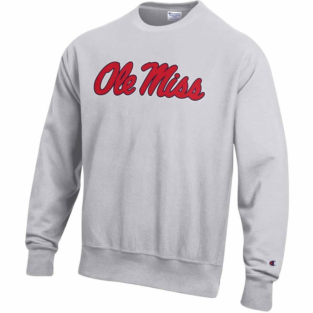 Script Ole Miss Reverse Weave Crew Sweatshirt