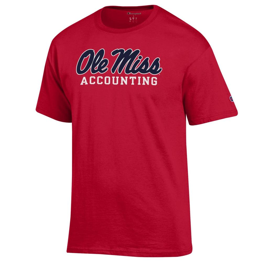 Ss Script Ole Miss Accounting Basic Tee