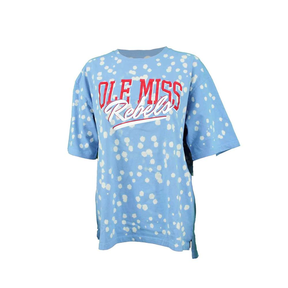 Ole Miss Rebels Caroline Spot Wash Ss Tee