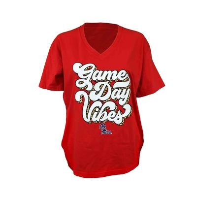 OLE MISS GAME DAY VIBES SS BASIC WOMENS TEE
