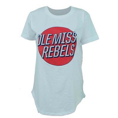 OLE MISS REBELS MARIANA RETRO WOMENS SS TEE POWDER_BLUE