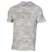 OLE MISS REBELS UA PERFORMANCE COTTON SS CAMO TEE