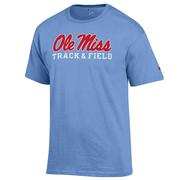 SS SCRIPT OLE MISS TRACK AND FIELD  BASIC TEE
