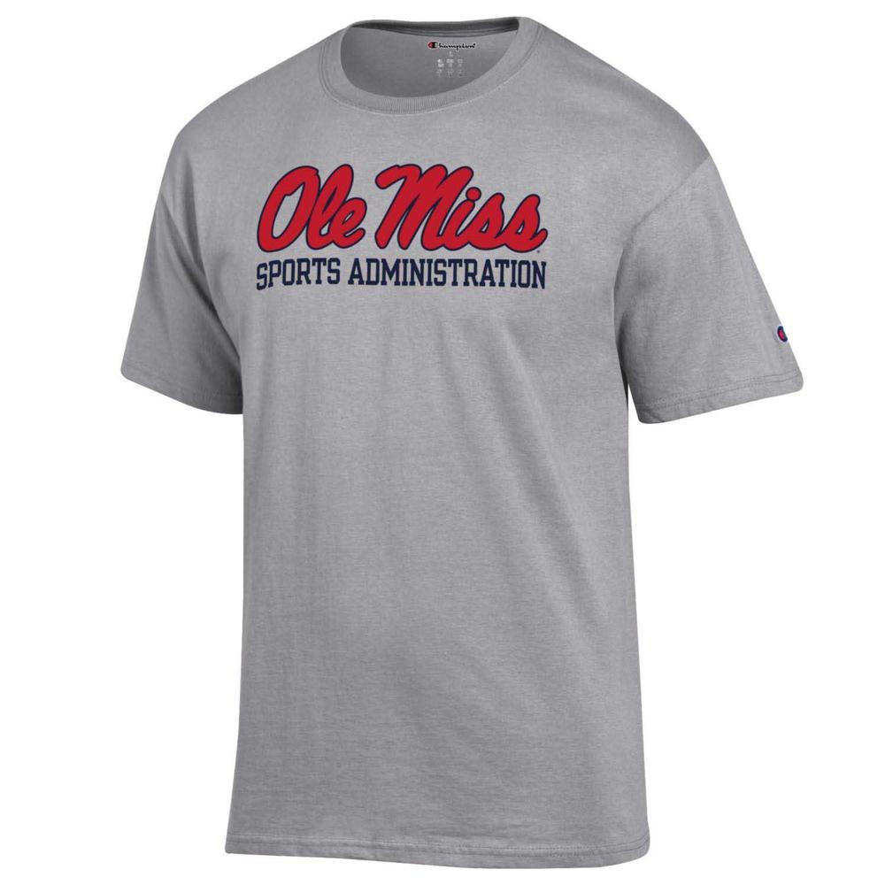 Ss Script Ole Miss Sports Administration Basic Tee