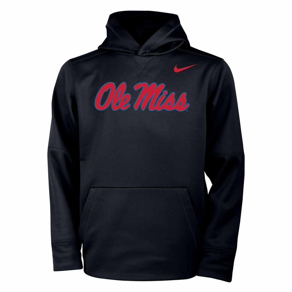 Script Ole Miss Nike Youth Therma Po Hoodie