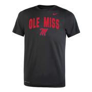OLE MISS NIKE YOUTH DRI-FIT LEGEND 2.0 SS TEE