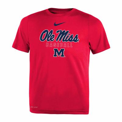 OLE MISS BASEBALL NIKE TODDLER LEGEND SS TEE RED