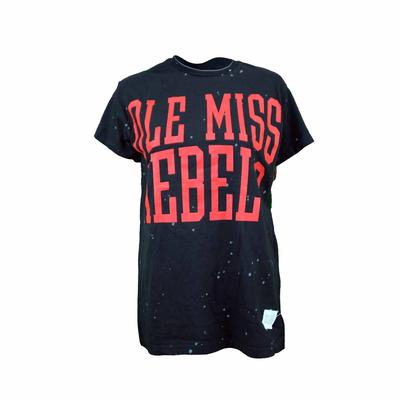 OLE MISS REBELS SS BLEACH WASH TEE