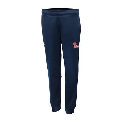 OLE MISS NIKE BOYS THERMA TAPERED PANT