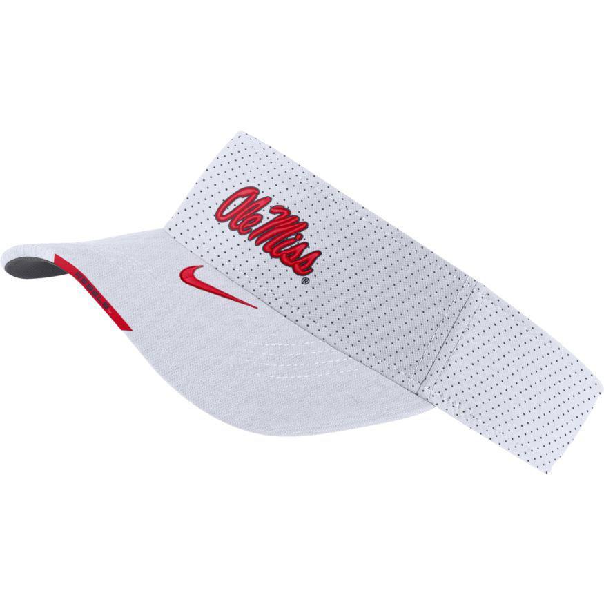 Ole Miss Col U Nike Aero Visor Sideline
