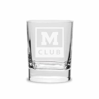 M CLUB SQUARE ROUND DOUBLE OLD FASHION GLASS