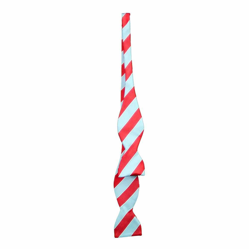 Stripe Silk Woven Bow Tie