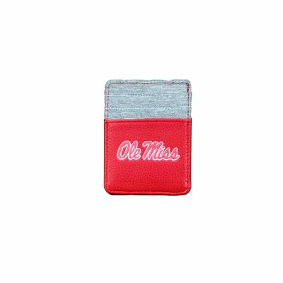 PEBBLE FRONT POCKET WALLET RED