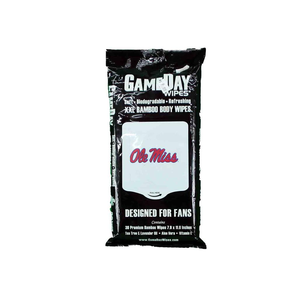 30 Pack Ole Miss Gameday Wipes