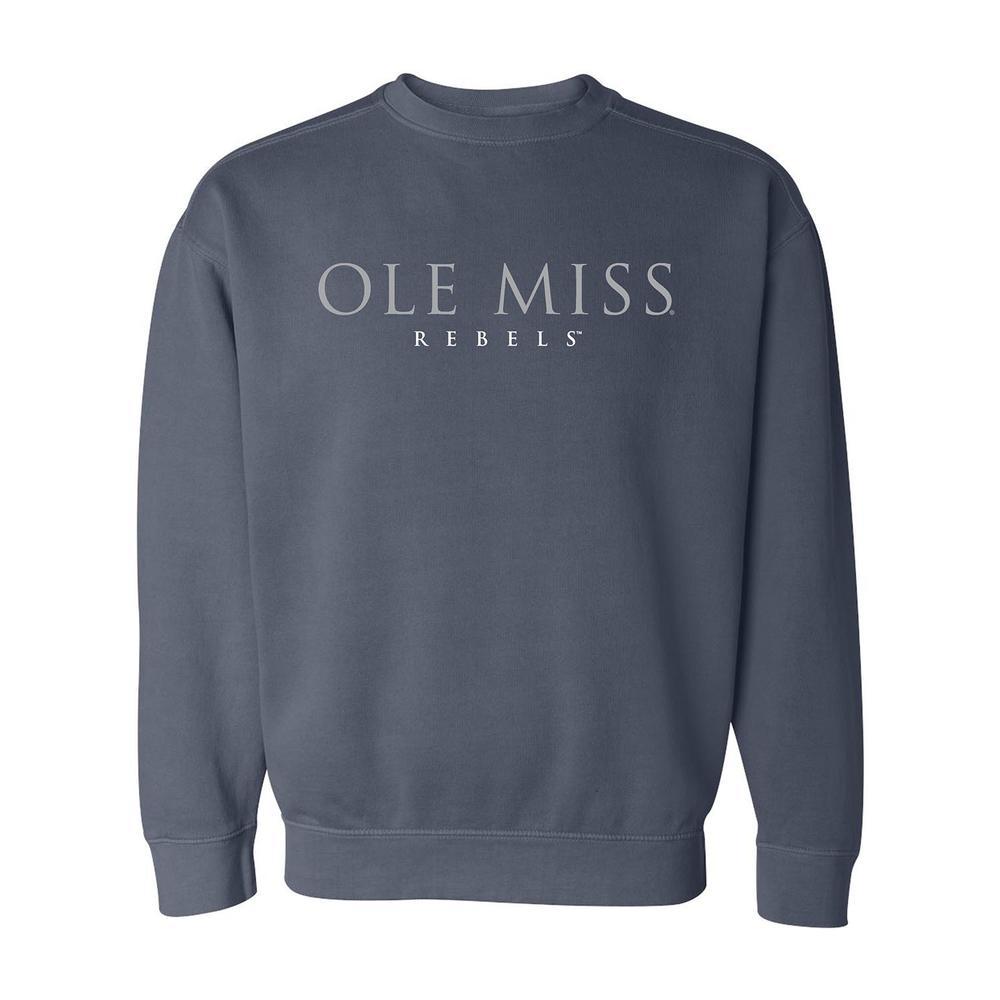Ole Miss Rebels Comfort Colors Crew Sweatshirt