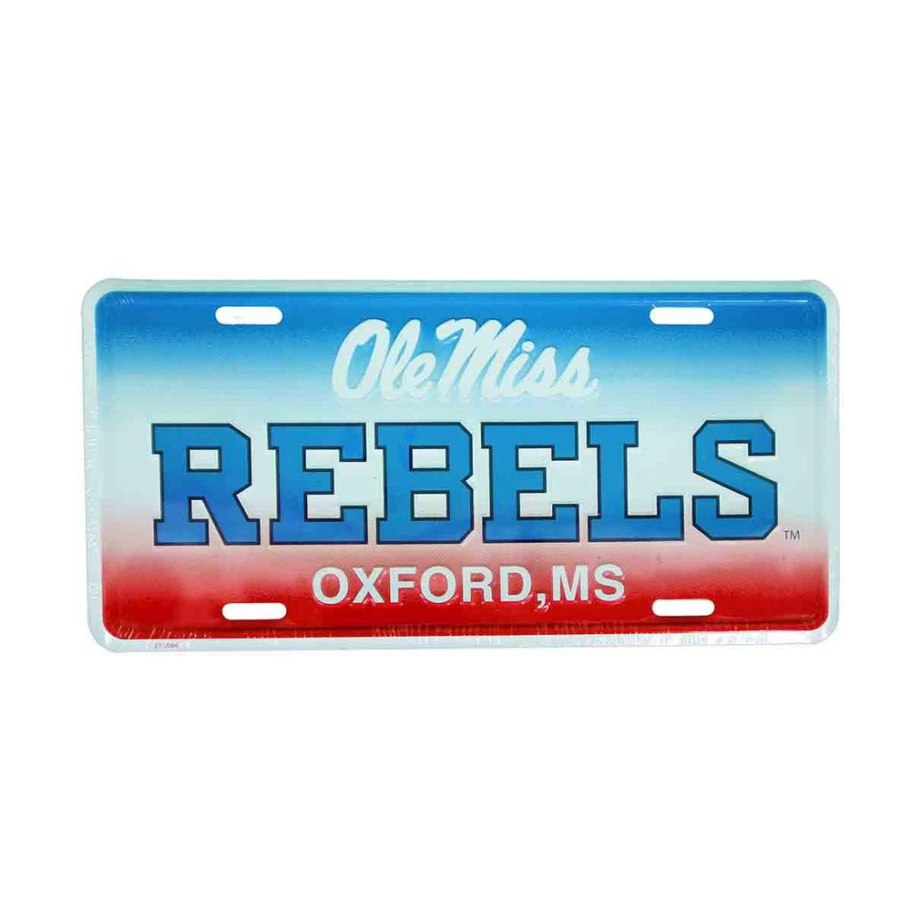 Ole Miss Oxford Ms Aluminum License Plate