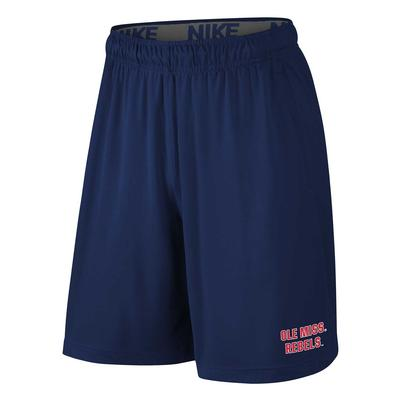 OLE MISS REBELS NIKE YOUTH FLY SHORT 2.0 NAVY