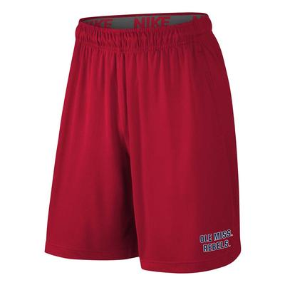 OLE MISS REBELS NIKE YOUTH FLY SHORT 2.0 RED