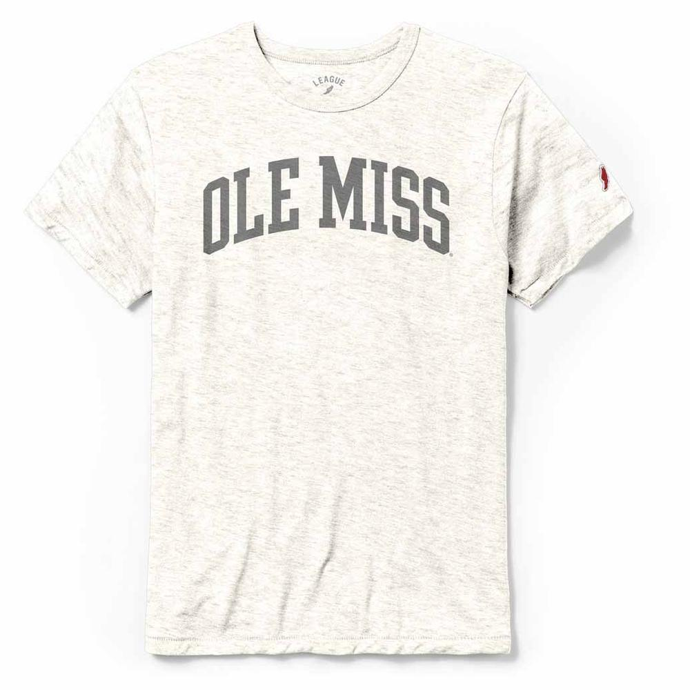 Ole Miss Block Arched Ghost Print Victory Falls Tee