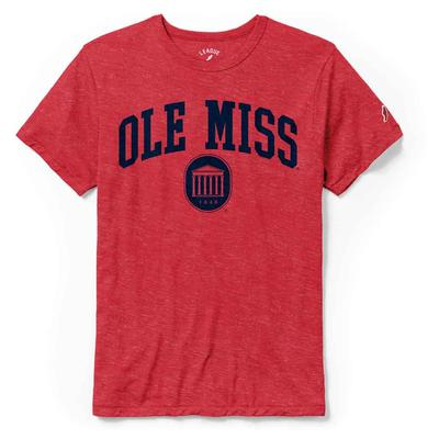 OLE MISS LYCEUM SS VICTORY FALLS TEE HEATHER_TRUE_RED