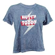 HOTTY TODDY LIGHTNING BOLT MINERAL WASH CROPPED SS TEE