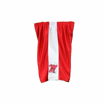 OLE MISS KIDS BASKETBALL SHORTS RED