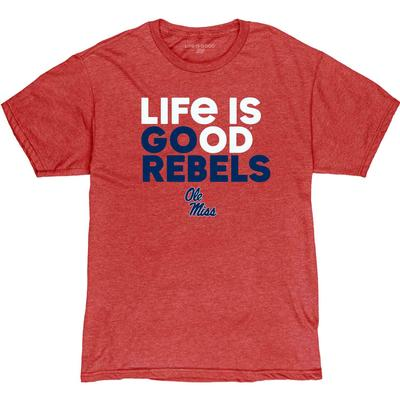 LIFE IS GOOD GO REBELS SS BLEND TEE