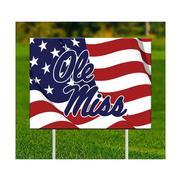 OLE MISS AMERICAN FLAG YARD SIGN