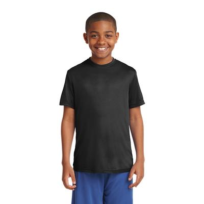 YOUTH POSICHARGE COMPETITOR TEE BLACK