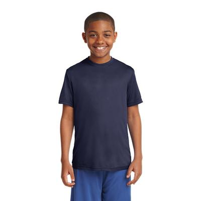 YOUTH POSICHARGE COMPETITOR TEE NAVY
