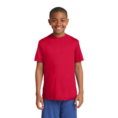 YOUTH POSICHARGE COMPETITOR TEE RED
