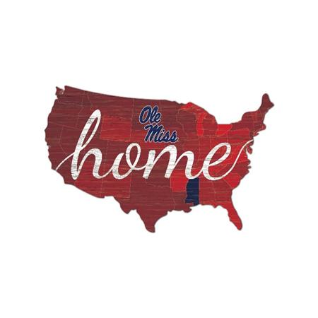 Ole Miss Home America Wall Sign