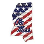 OLE MISS MISSISSIPPI  AMERICAN FLAG WALL SIGN