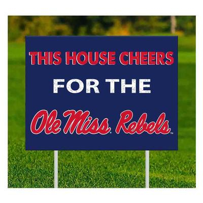 THIS HOUSE CHEERS HOTTY TODDY YARD SIGN