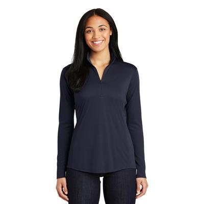 LADIES POSICHARGE COMPETITOR QTR ZIP NAVY