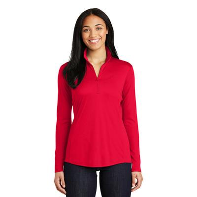 LADIES POSICHARGE COMPETITOR QTR ZIP RED