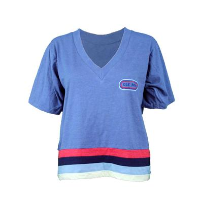 OLE MISS SS CAMP COLLECTION JESSIE V-NECK TEE
