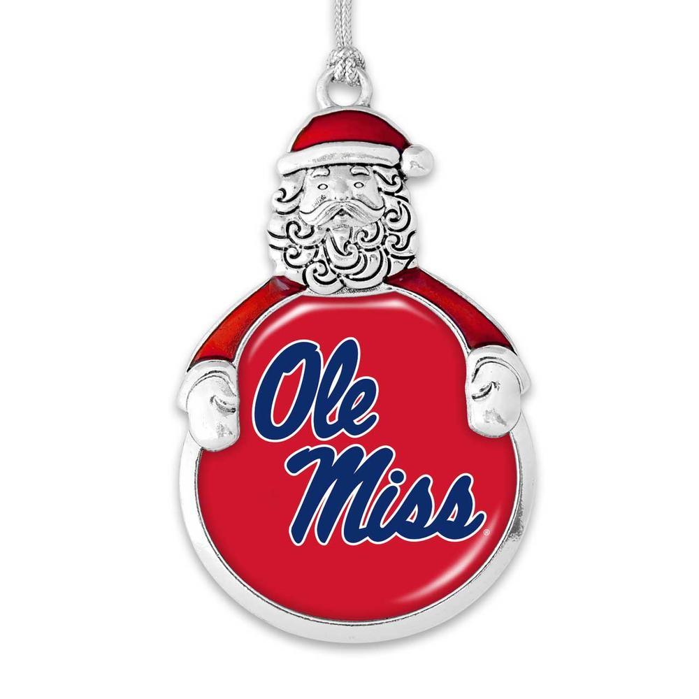 Ole Miss Santa Christmas Ornament