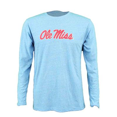 SCRIPT OLE MISS YOUTH LS KNOBBY TEE