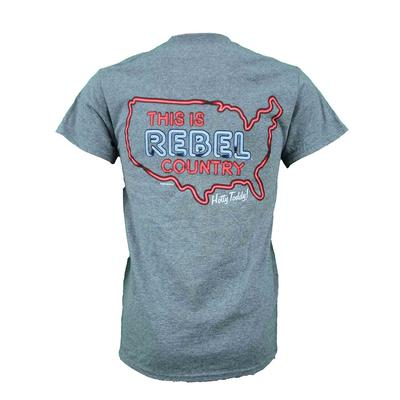 THIS IS REBEL COUNTRY SS GILDAN DRIBLEND TEE