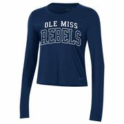 OLE MISS REBELS PERFORMANCE COTTON LS TEE