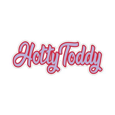 4 INCH SCRIPT HOTTY TODDY DECAL