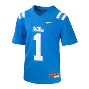 YOUTH OLE MISS NO 1 FOOTBALL JERSEY