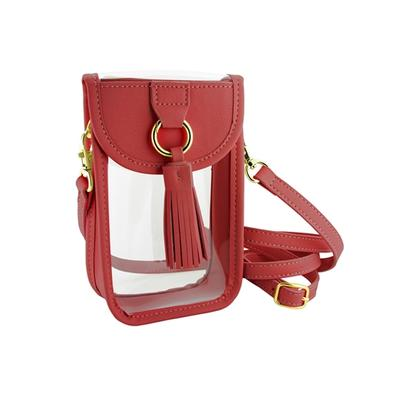 RED CELL PHONE CROSSBODY