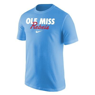 OLE MISS REBELS NIKE CORE COTTON SS TEE