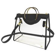 CLASSIC RING TOTE WITH BLACK AND GOLD ACCENTS
