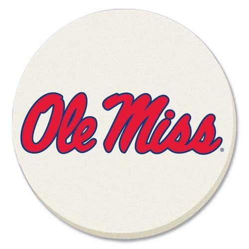 Ole Miss Car Coaster