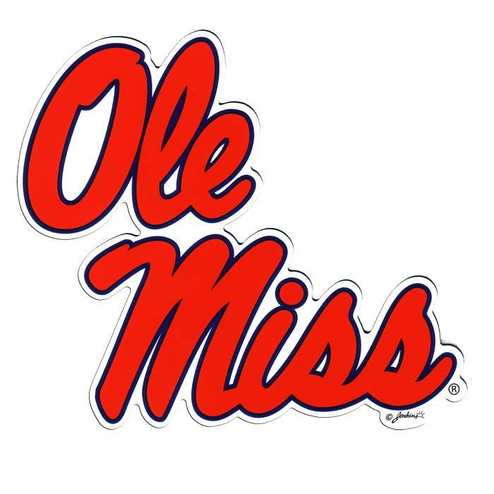 Ole Miss 2- Pack Car Magnets