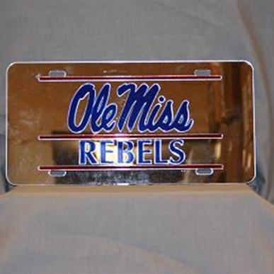 Rebel Rags Ole Miss Rebs Mirror Car Tag